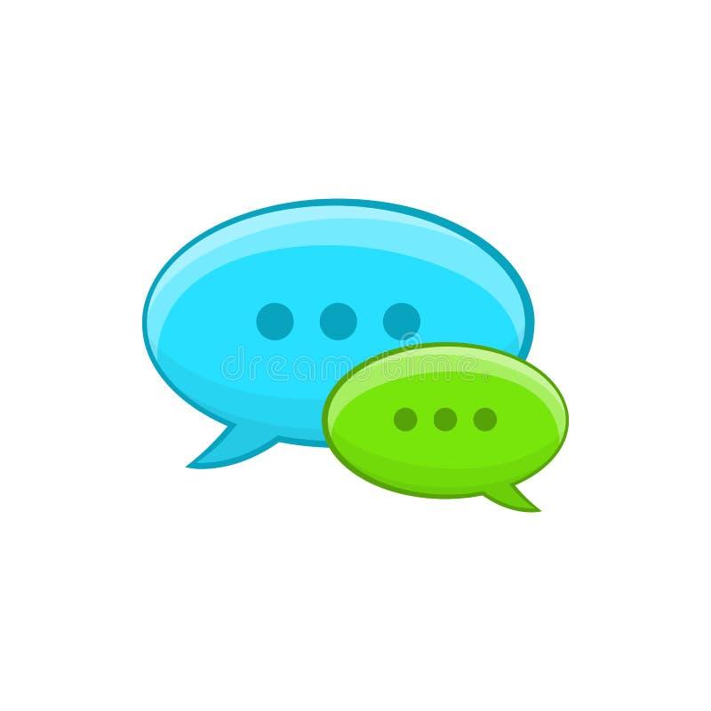 Icône de conversation de bulle de la parole, style de bande dessinée illustration stock