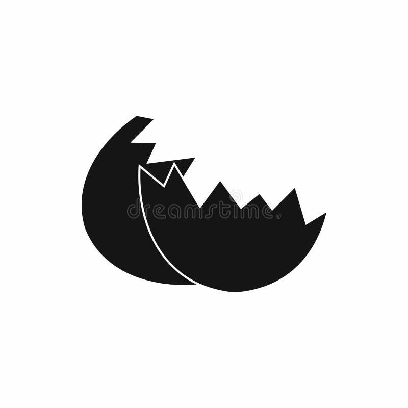 Icône de coquille d'oeufs, style simple illustration de vecteur