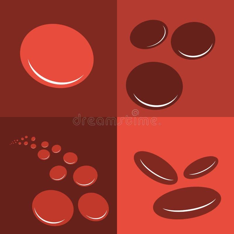 Icône de corpuscules d'érythrocytes de groupe illustration stock