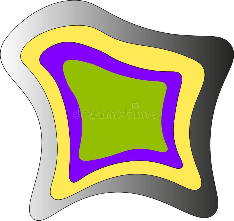 Icône de couleur de vecteur images stock