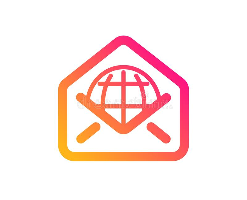 Ic?ne de courrier de Web Signe de correspondance de message Vecteur illustration libre de droits