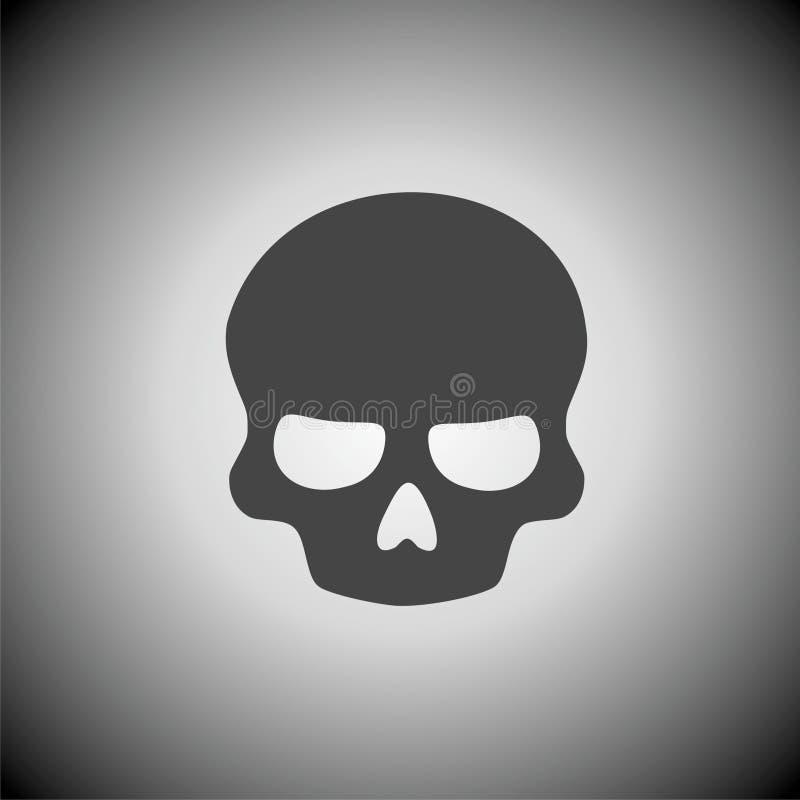 Icône de crâne illustration de vecteur