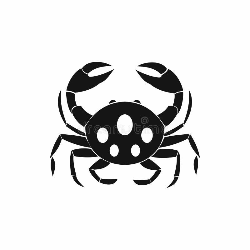 Icône de crabe, style simple illustration stock