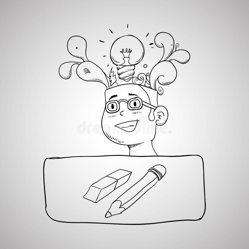 Icône de croquis Concept créateur illustration de vecteur