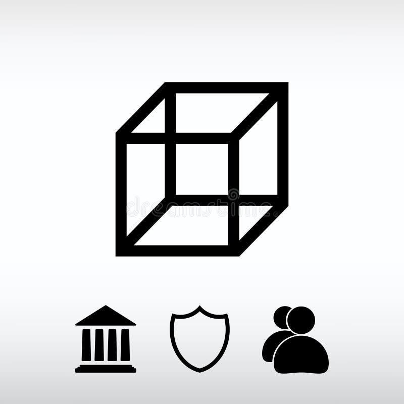 Icône de cube, illustration de vecteur Style plat de conception illustration libre de droits