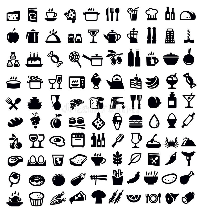 Icône de cuisine et de nourriture illustration libre de droits