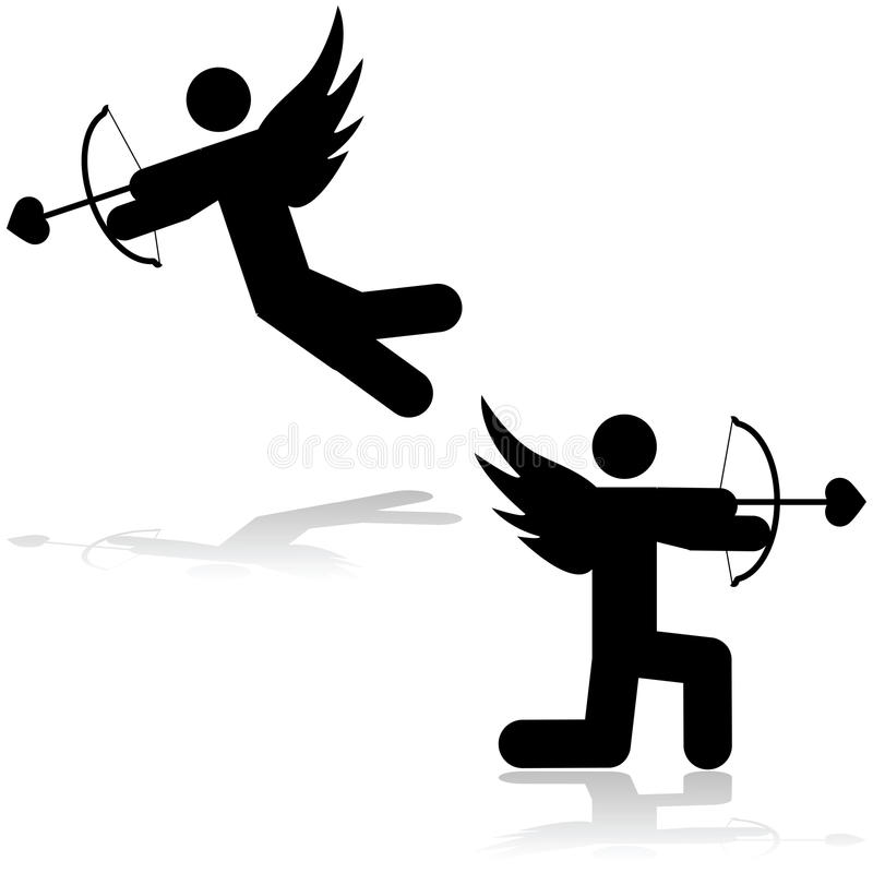 Icône de cupidon illustration libre de droits