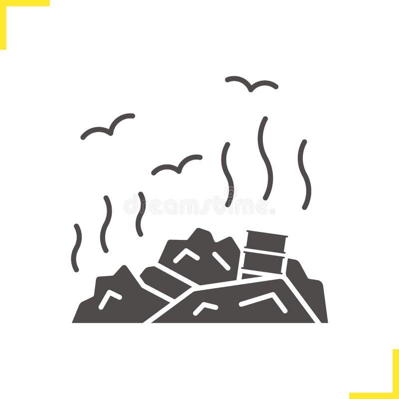 Icône de décharge de déchets illustration libre de droits