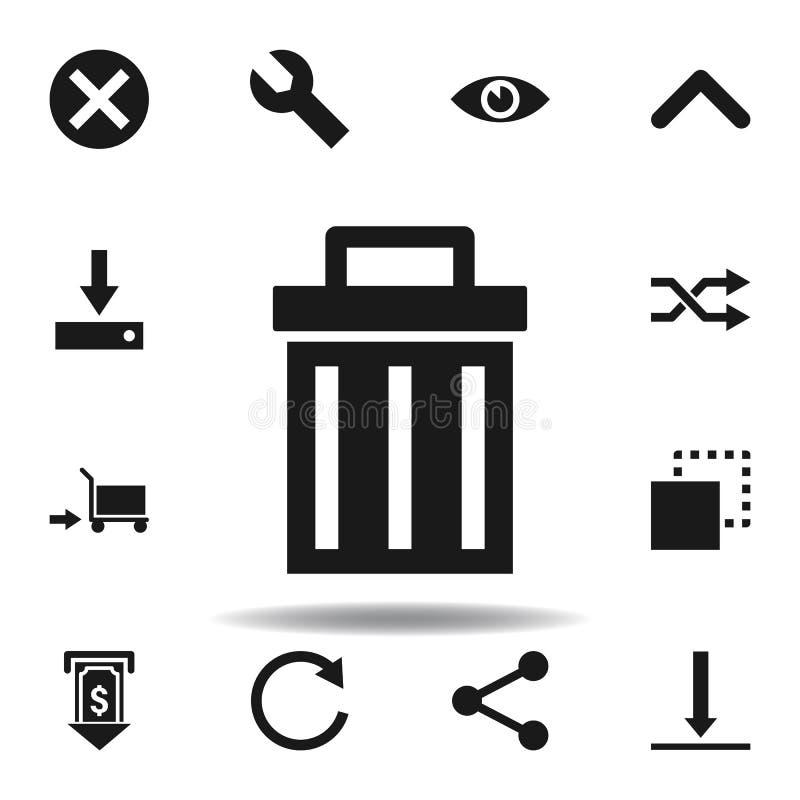 ic?ne de d?chets de site Web d'utilisateur placez des icônes d'illustration de Web des signes, symboles peuvent être employés pou illustration stock