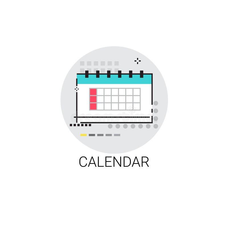 Icône de date-butoir de mois de date civile illustration libre de droits