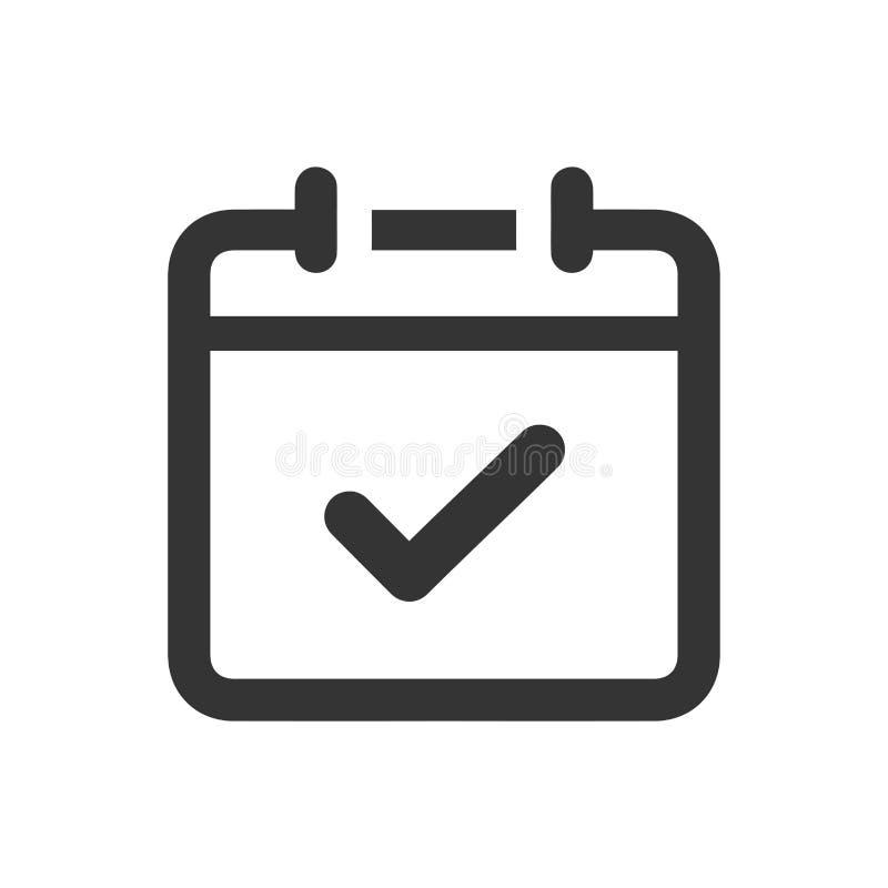 Icône de demande de rendez-vous illustration libre de droits