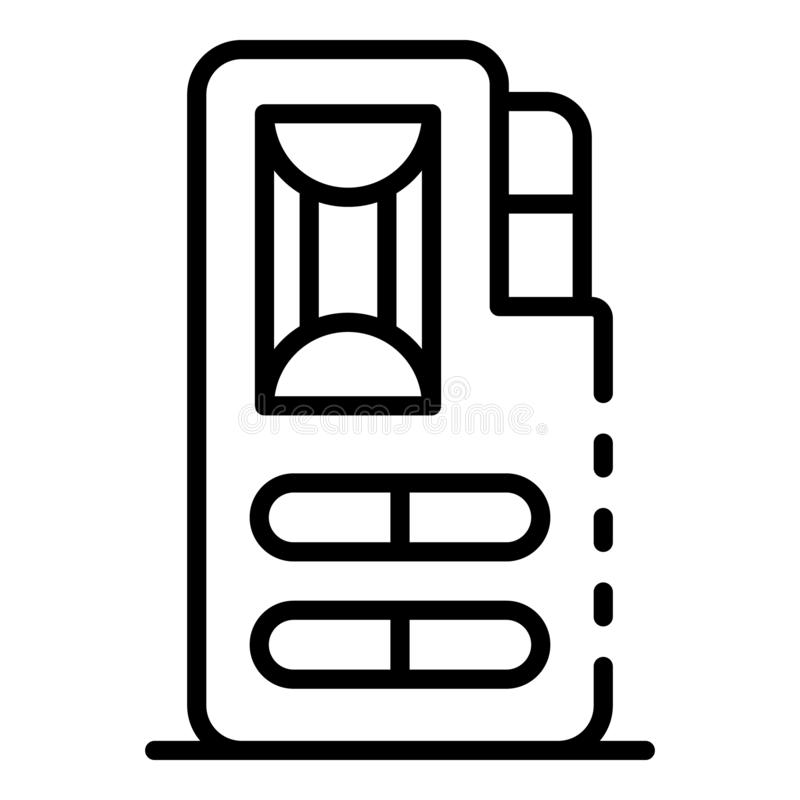 Ic?ne de dictaphone de cassette, style d'ensemble illustration libre de droits