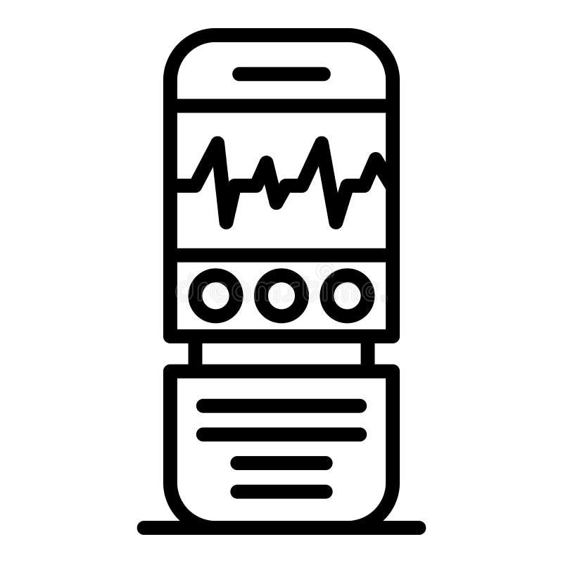 Ic?ne de dictaphone de Digital, style d'ensemble illustration de vecteur