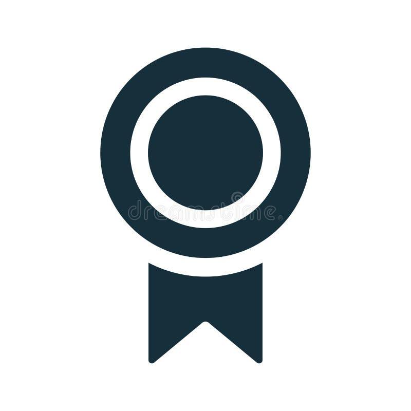 Icône de diplôme de certificat de médaille illustration libre de droits