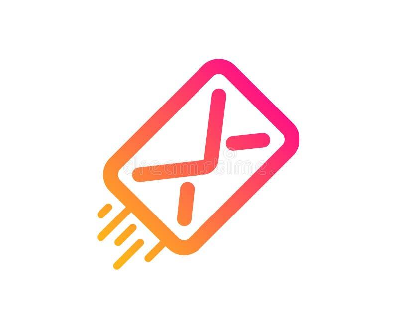 Ic?ne de distribution du courrier Signe de correspondance de message Vecteur illustration de vecteur