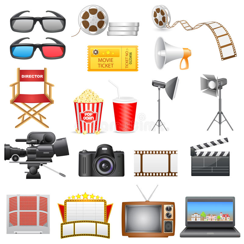 Icône de divertissement et de cinéma illustration de vecteur