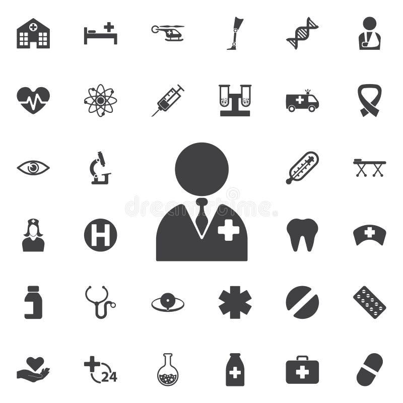 Icône de docteur de vecteur photos stock