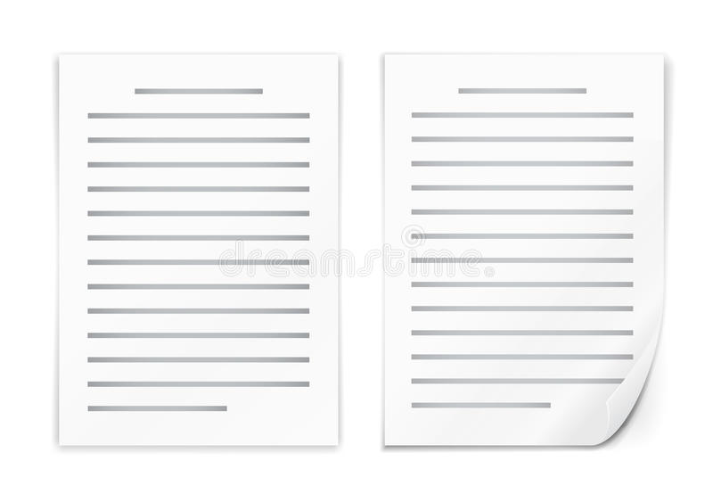 Icône de document illustration stock