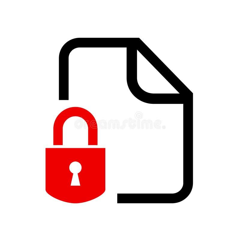 Icône de document verrouillée secrète illustration libre de droits