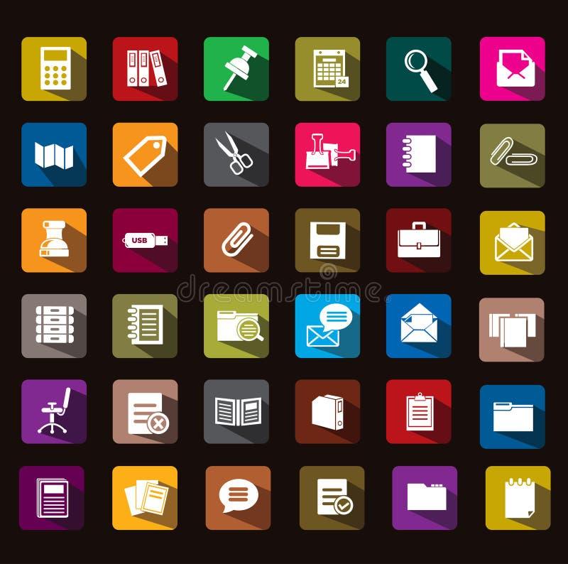 Icône de documents illustration de vecteur