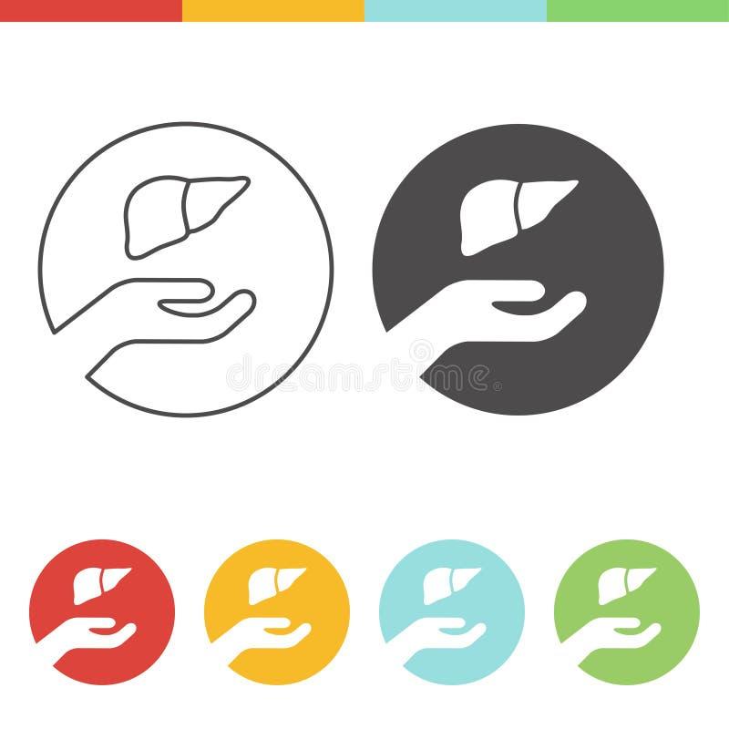 Icône de donation de foie illustration libre de droits