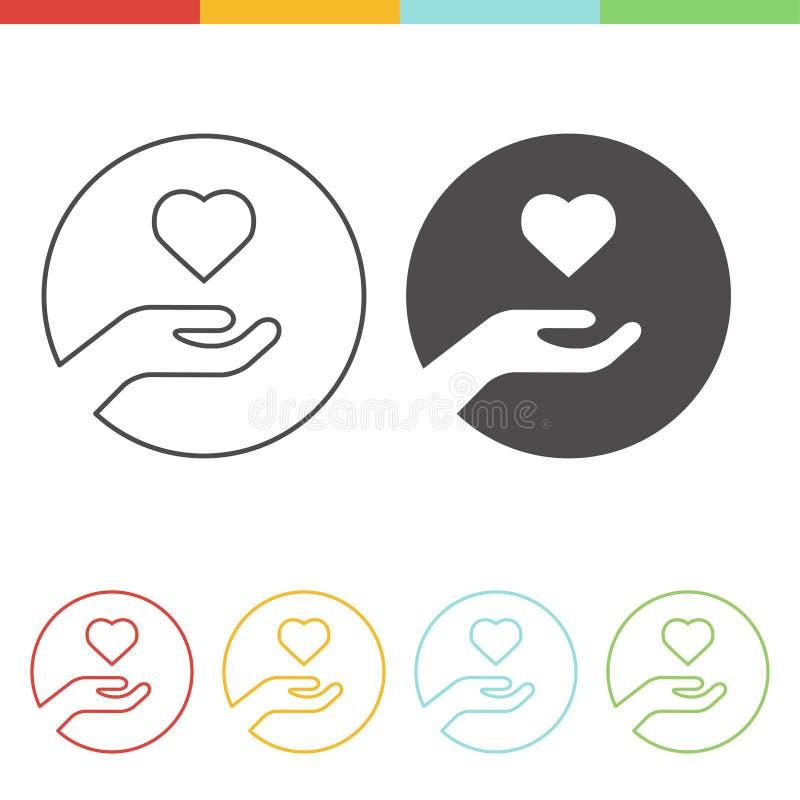 Icône de donation de foie illustration de vecteur