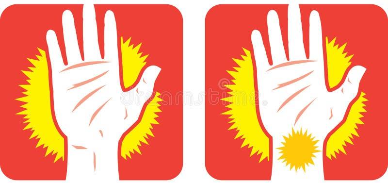 Icône de douleur de main illustration libre de droits