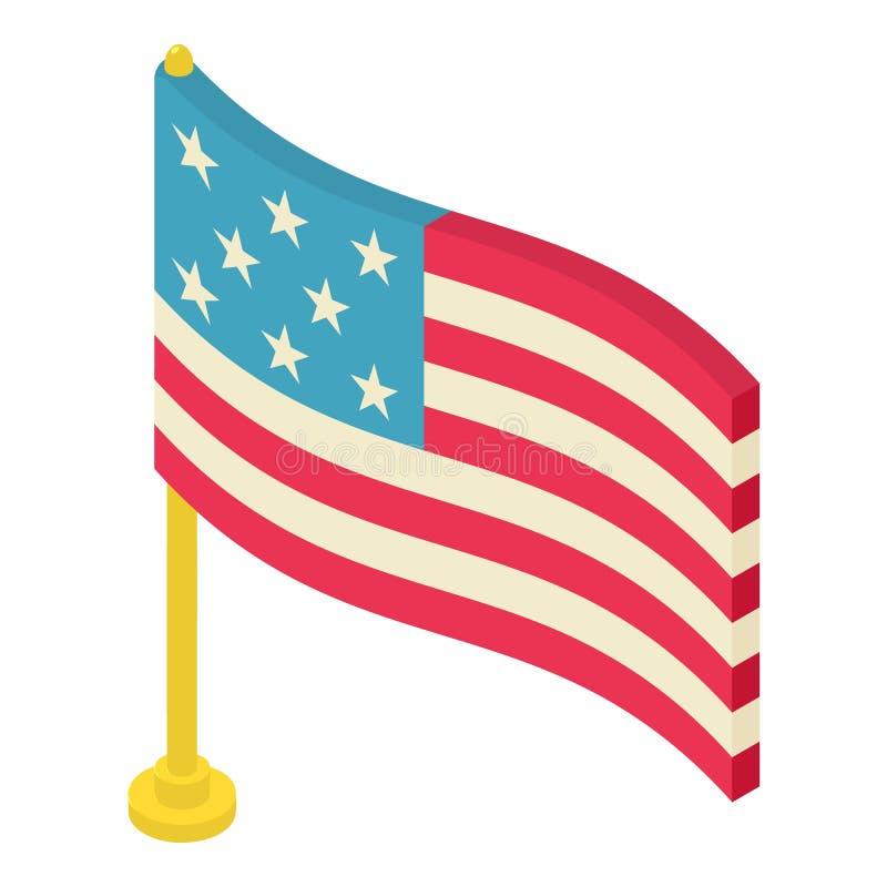 Icône de drapeau, style 3d isométrique illustration de vecteur