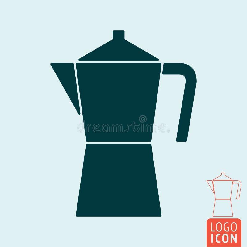 Icône de fabricant de café illustration stock