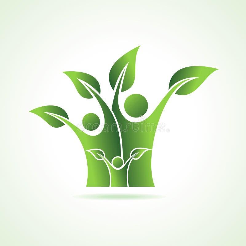 Icône de famille d'Eco illustration libre de droits