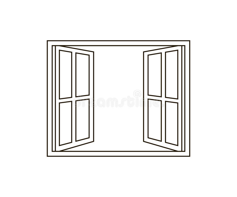 Icône de fenêtre ouverte illustration de vecteur