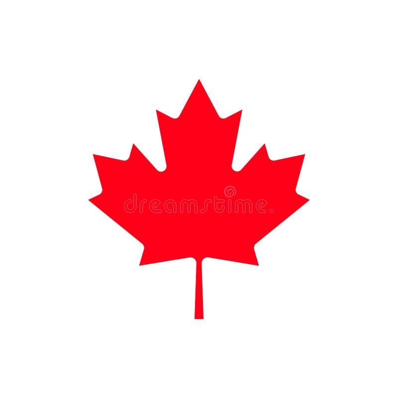 Icône de feuille d'érable de Canada illustration stock