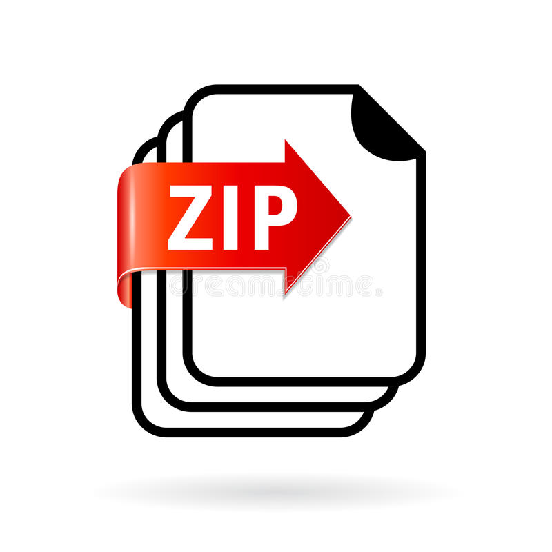 Icône de fichier zip d'archives illustration de vecteur