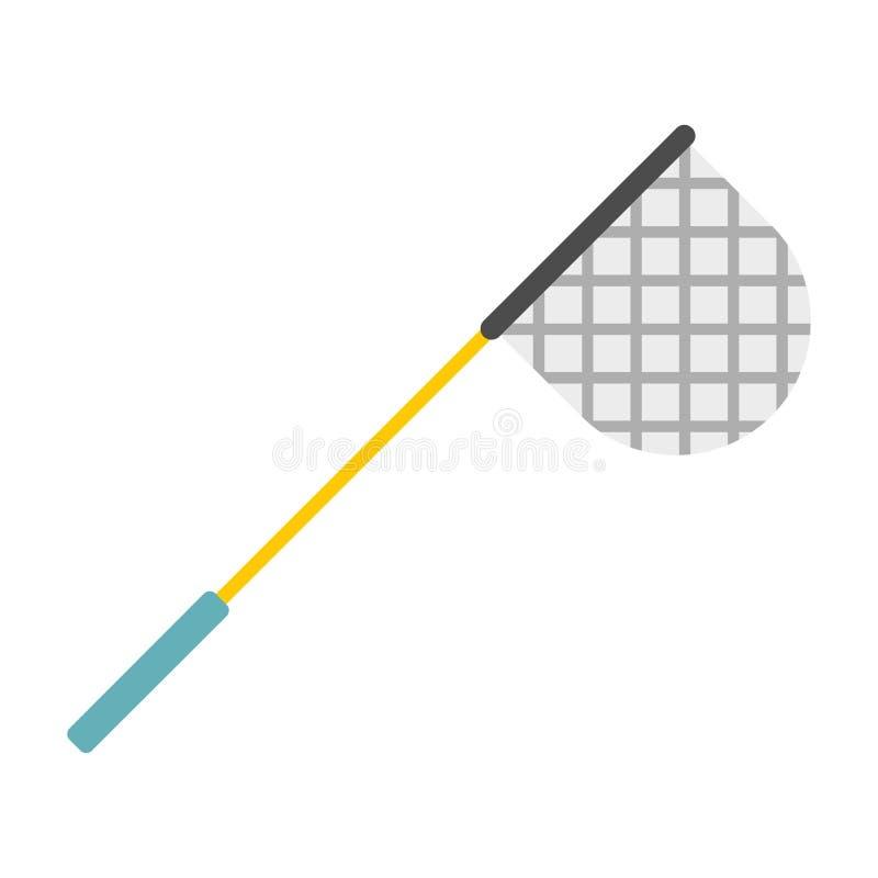 Icône de filet de pêche, style plat illustration libre de droits