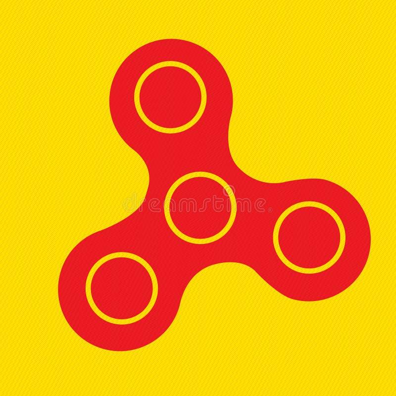 Icône de fileur - jouez pour la détente et l'amélioration de la durée d'attention Fileur de fidger de main illustration de vecteur