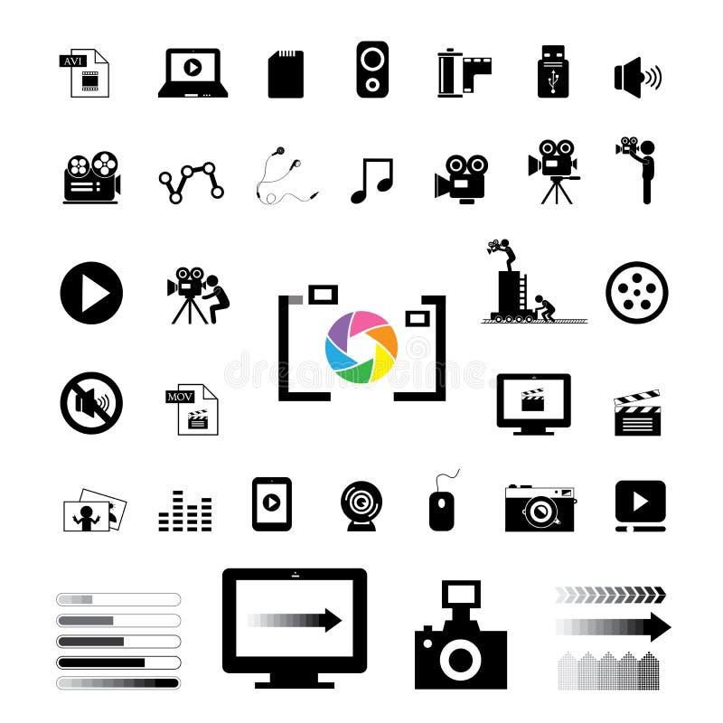Icône de film et de media illustration libre de droits