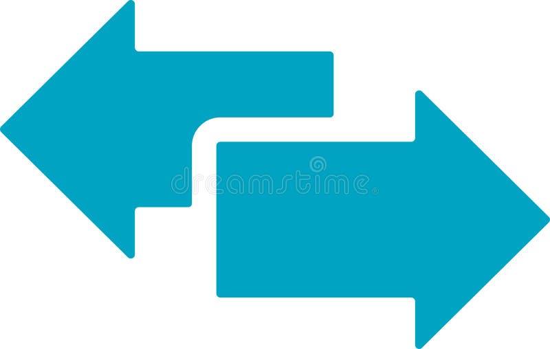 Icône de flèches d'échange illustration libre de droits