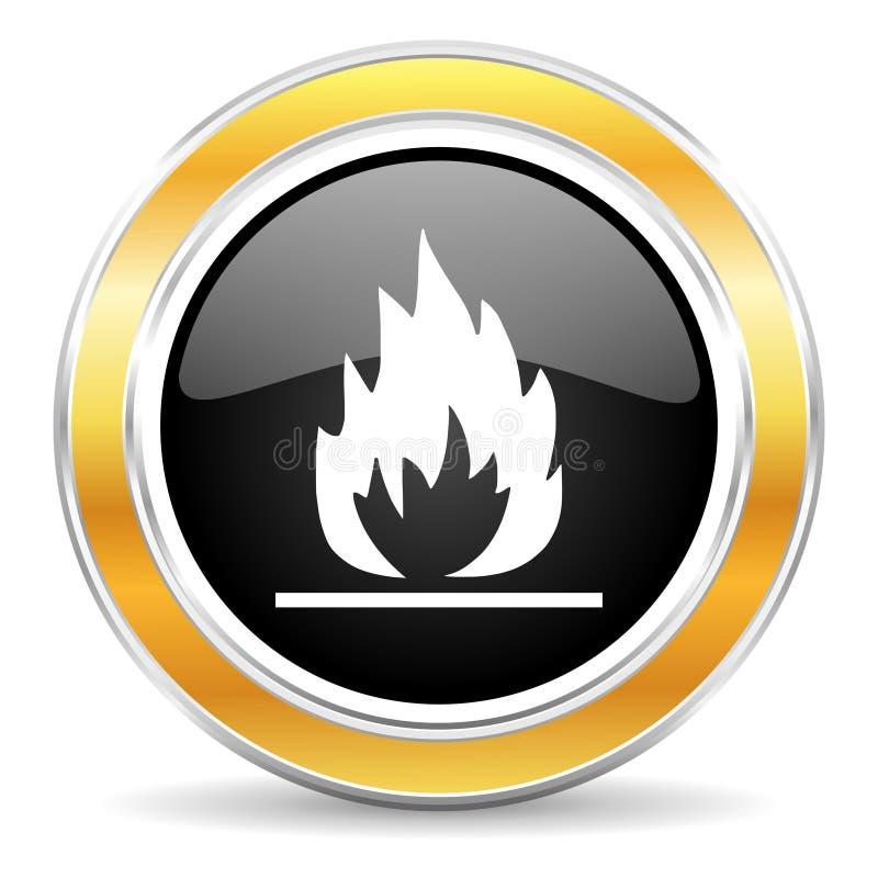 Icône de flamme illustration de vecteur