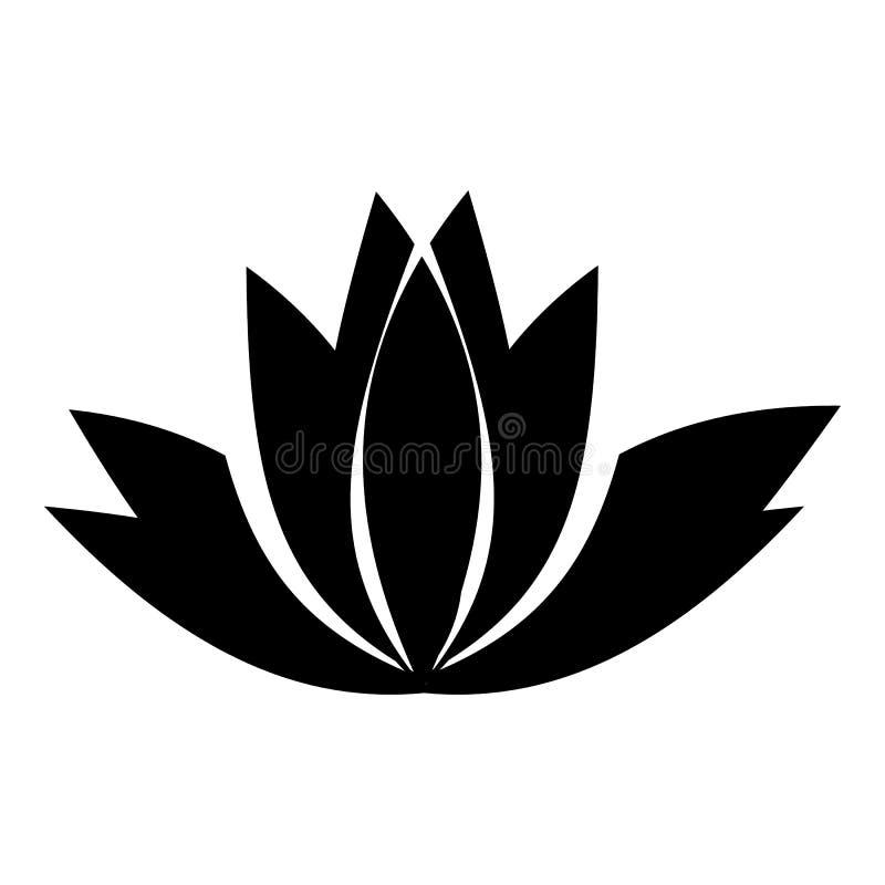 Icône De Fleur De Lotus Style Simple Illustration De
