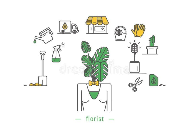 Icône de fleuriste illustration stock