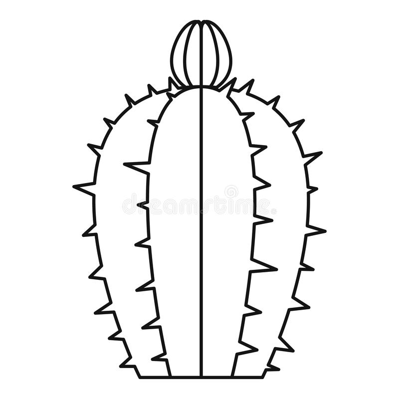 Icône de floraison de cactus, style d'ensemble illustration libre de droits