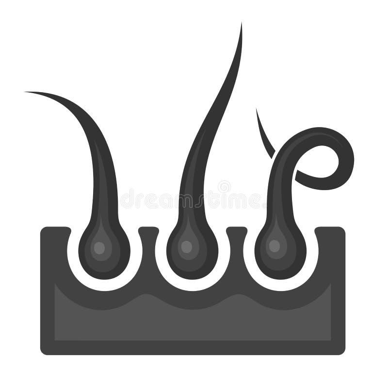 Icône de follicule pileux Vecteur illustration libre de droits