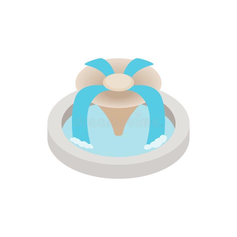 Icône de fontaine, style 3d isométrique illustration de vecteur