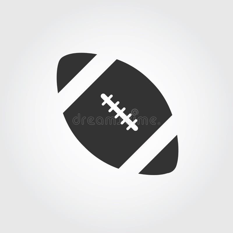 Icône de football américain, conception plate illustration libre de droits