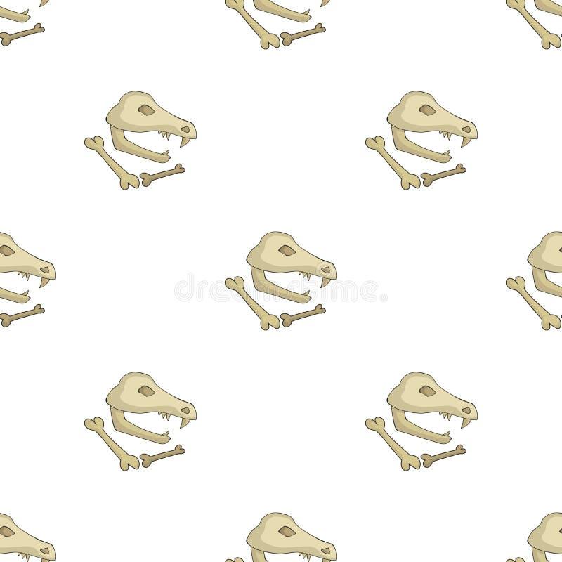 Icône de fossiles de dinosaure dans le style de bande dessinée d'isolement sur le fond blanc Illustration de vecteur d'actions de illustration de vecteur