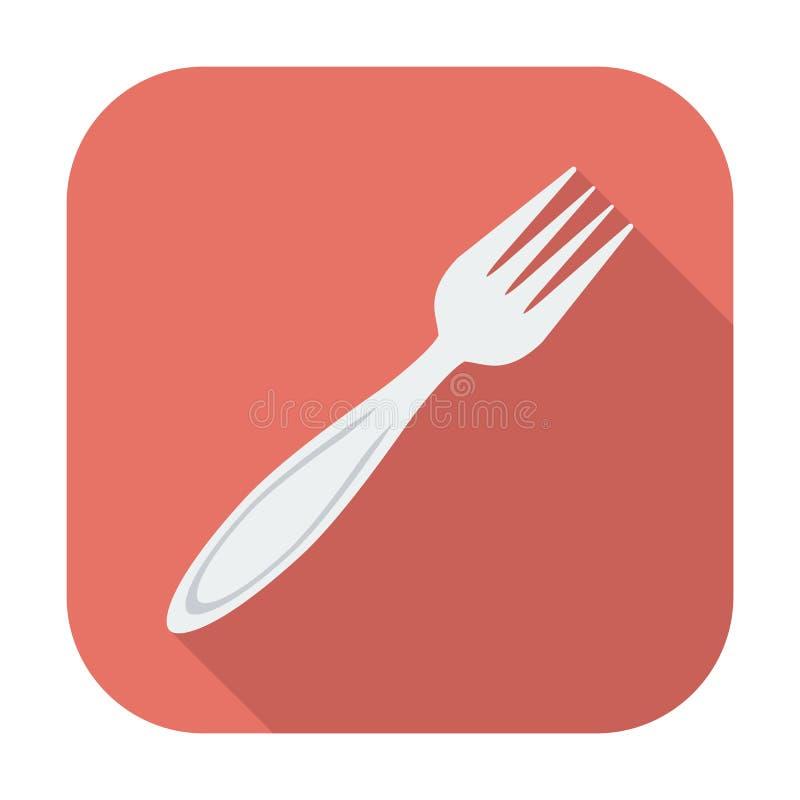 Icône de fourchette illustration de vecteur