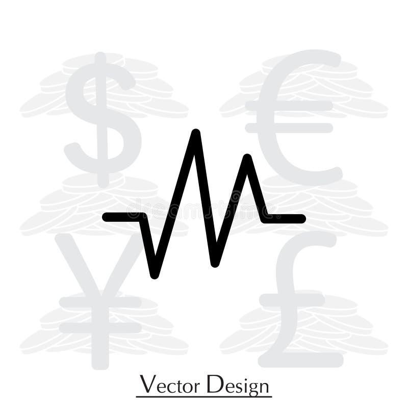 Icône de fréquence cardiaque illustration stock