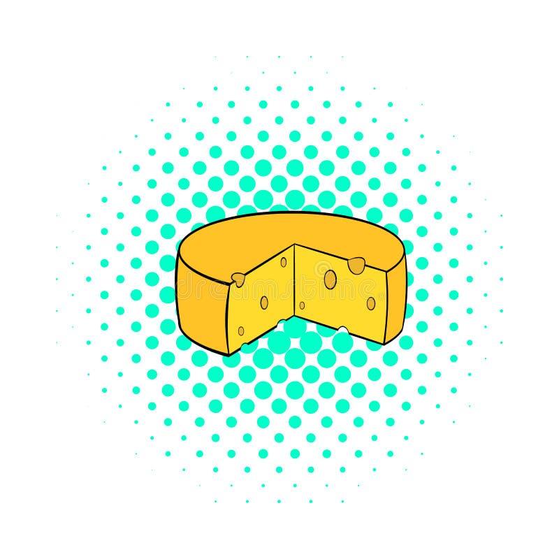Icône de fromage de Hollande, style de bandes dessinées illustration stock