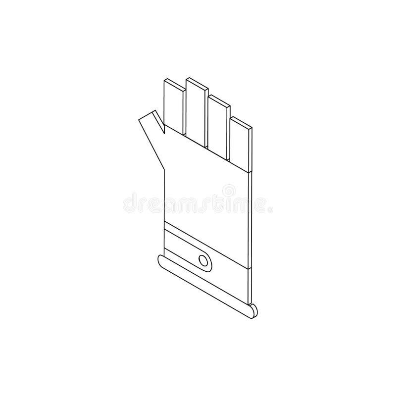 Icône de gant de Paintball, style 3d isométrique illustration libre de droits