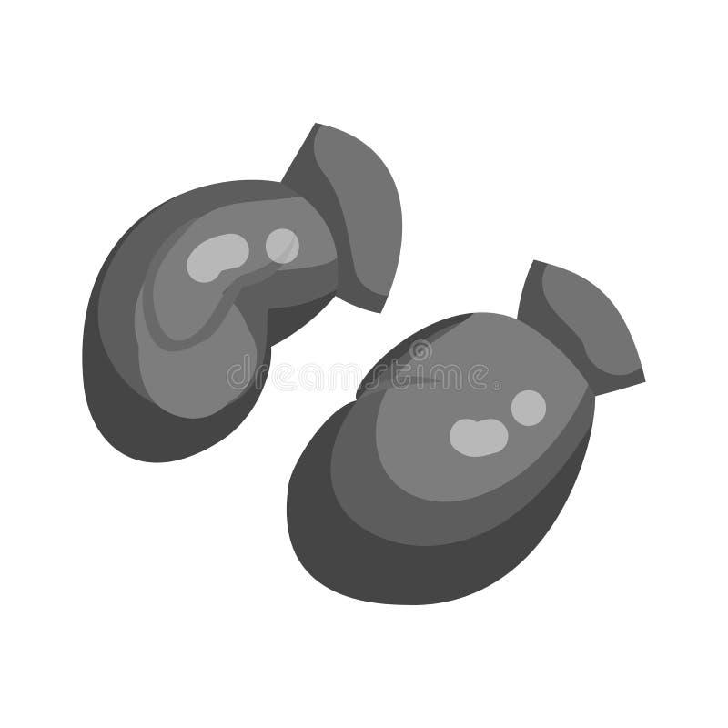 Icône de gants de boxe, style monochrome noir illustration de vecteur